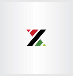 x or z letter symbol logo logotype vector image