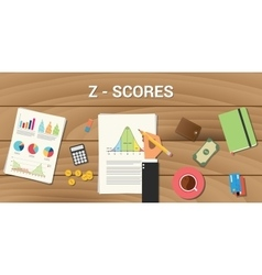 z-score interactive graph normal distribution vector image