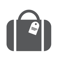 bag flat icon for traveling vector image