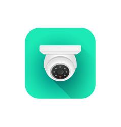 Indoor dome surveillance camera vector