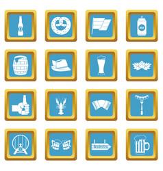 oktoberfest icons azure vector image