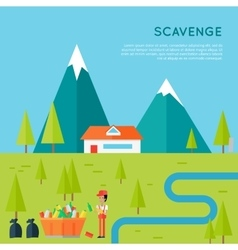 Scavenge concept in flat style design vector
