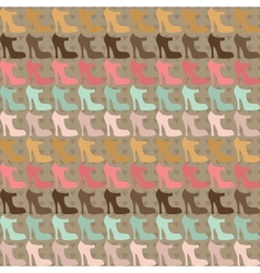 Seamless pattern with shoes in retro style vector image vector image