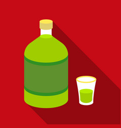 absinthe icon in flat style isolated on white vector image vector image