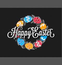 easter eggs vintage design background vector image