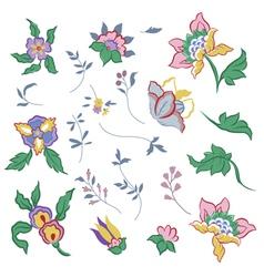 Flower elements vector image