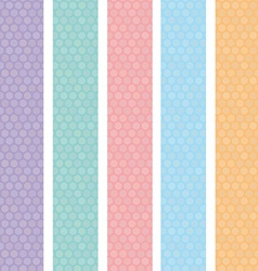 Polka dot background seamless pattern with orange vector image