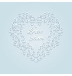 Heart decorative ornamental vector image vector image
