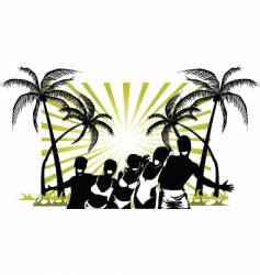 palm beach party vector image
