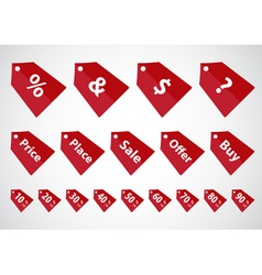 Sale sticker price tag vector image