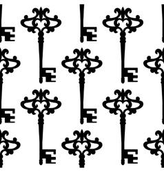Seamless background pattern of a vintage keys vector image vector image