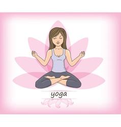 Zen yoga vector image vector image