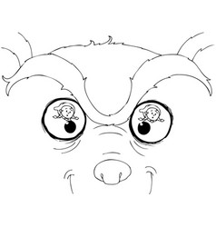 coloring bad wolf eyes vector image vector image
