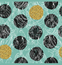 damask seamless pattern hand drawn ornamental vector image vector image