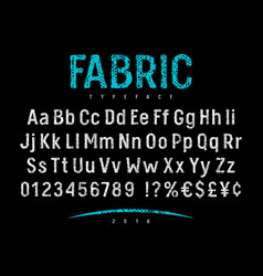 fabric font 001 vector image