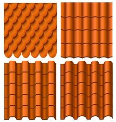 Roof pattern set vector image