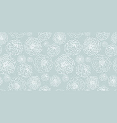 silver grey flower garden seamless repeat vector image