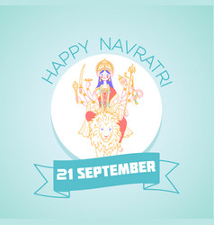 21 september navratri vector