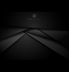 Abstract 3d black geometric triangle layer vector