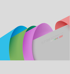Abstract colors paper concepts vector