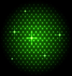 Abstract global with green dots background vector