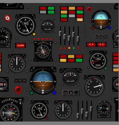 Airplane instrument panel aircraft dashboard vector