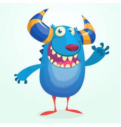 angry cartoon monster halloween vector image