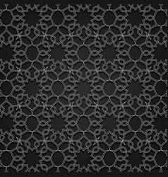 Arabesque pattern floral background design vector