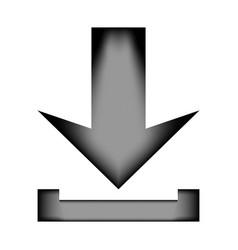 arrow download icon sign vector image