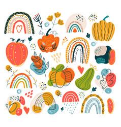 autumn hand drawn doodle boho vector image