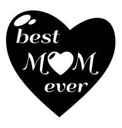 Best mother icon simple style vector