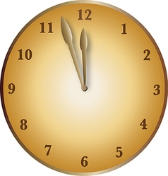 Bronze clock vector