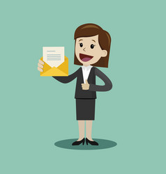 businesswoman or manager has a lot of emails he vector image