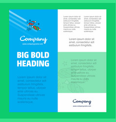candies business company poster template with vector image