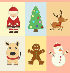 christmas and new year elements vector image