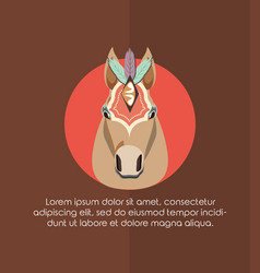circus horse carnival festival decorated vector image
