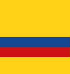 colombia flag icon in flat style national sign vector image