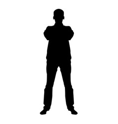 confident man crossed his arms business man vector image