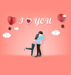 creative of love valentines day concept vector image