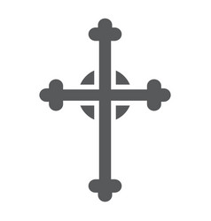 cross glyph icon church and religion christian vector image