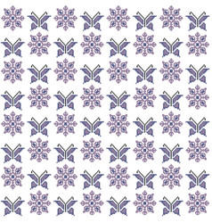 cross stitch seamless pattern traditional vector image