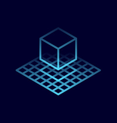 cube 3d icon vector image
