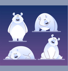 Cute polar bear - modern cartoon characters vector