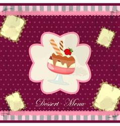 desert menu vector image