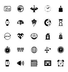 Design time icons on white background vector image vector image