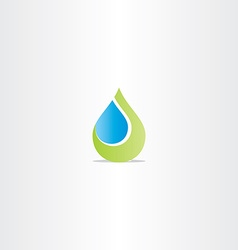 Eco drop of water abstract leaf icon vector