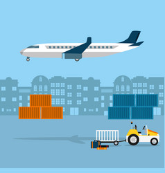 Fast delivery service vector