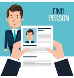 find person design vector image