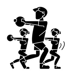 fitness people - gym icon vector image