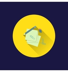 Flat stationery icon vector image